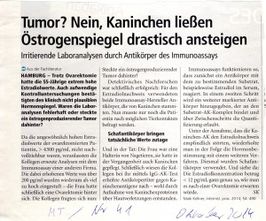 Mondmessung Östrogene Schafantikörper Medical tribune Okt 2014